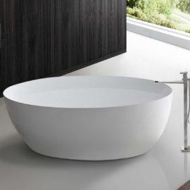 Ванна акриловая Vincea VBT-101, 1600*850*590, цвет белый, слив-перелив в комплекте, хром