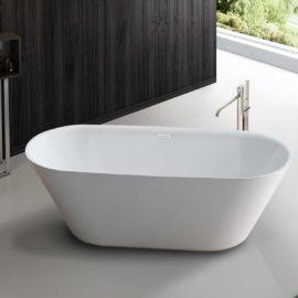 Ванна акриловая Vincea VBT-102, 1700*750*580, цвет белый, слив-перелив в комплекте, хром