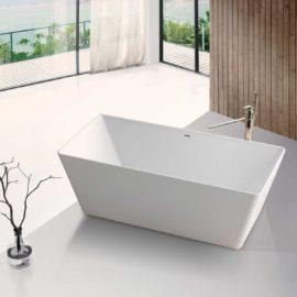 Ванна акриловая Vincea VBT-106, 1700*750*580, цвет белый, слив-перелив в комплекте, хром
