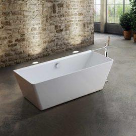 Ванна акриловая Vincea VBT-108, 1700*750*580, цвет белый, слив-перелив в комплекте, хром