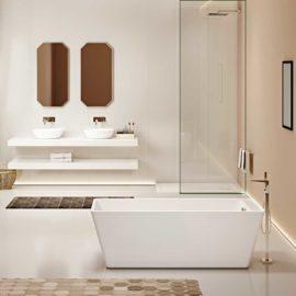 Ванна акриловая Vincea VBT-110, 1700*750*580, цвет белый, слив-перелив в комплекте, хром