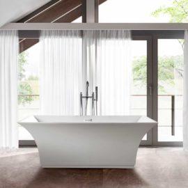 Ванна акриловая Vincea VBT-113, 1700*750*580, цвет белый, слив-перелив в комплекте, хром