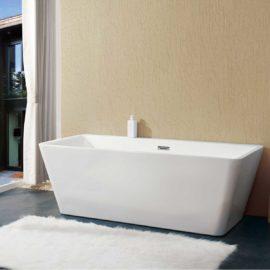 Ванна акриловая Vincea VBT-211, 1700*800*600, цвет белый, слив-перелив в комплекте, хром