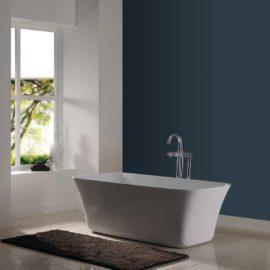Ванна акриловая Vincea VBT-216, 1600*750*550, цвет белый, слив-перелив в комплекте, хром