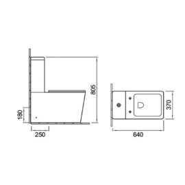 Унитаз-компакт  Vincea Q-line  безободковый, механиз слива  Geberit, ульратонкое сиденье soft close
