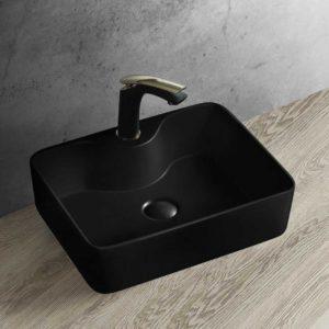 Раковина керамическая Vincea VBS-127MB, накладная, цвет матовый черный