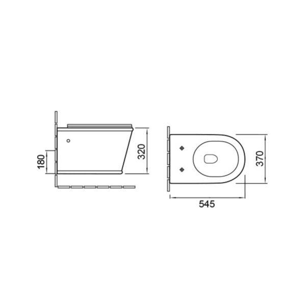 Унитаз подвесной Bordo VT1-16 безободковый, ультратонкое soft-close сиденье